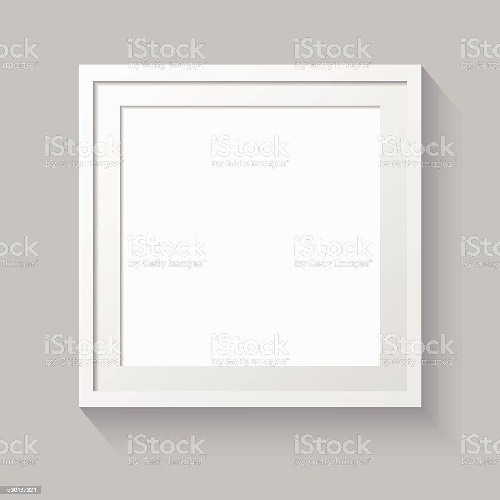 3D picture frame design for image or text vector art illustration