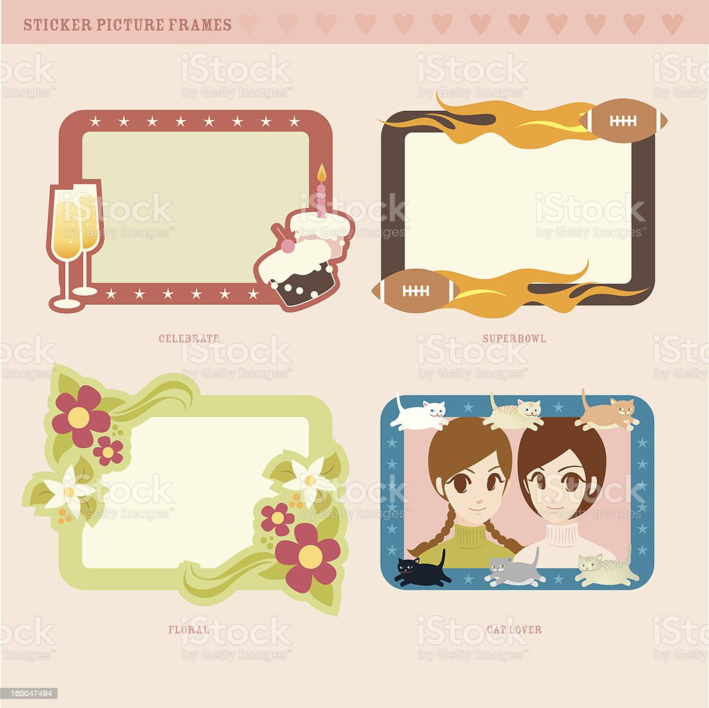 picture frame series (1) royalty-free stock vector art