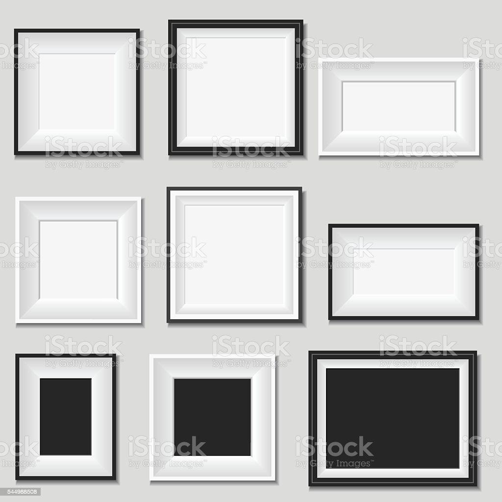 Picture frame vector art illustration