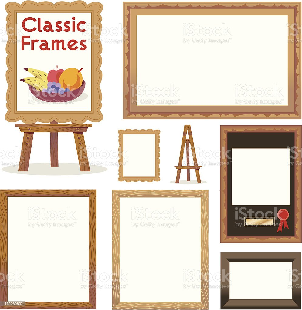 Picture Frames (Classic) royalty-free stock vector art