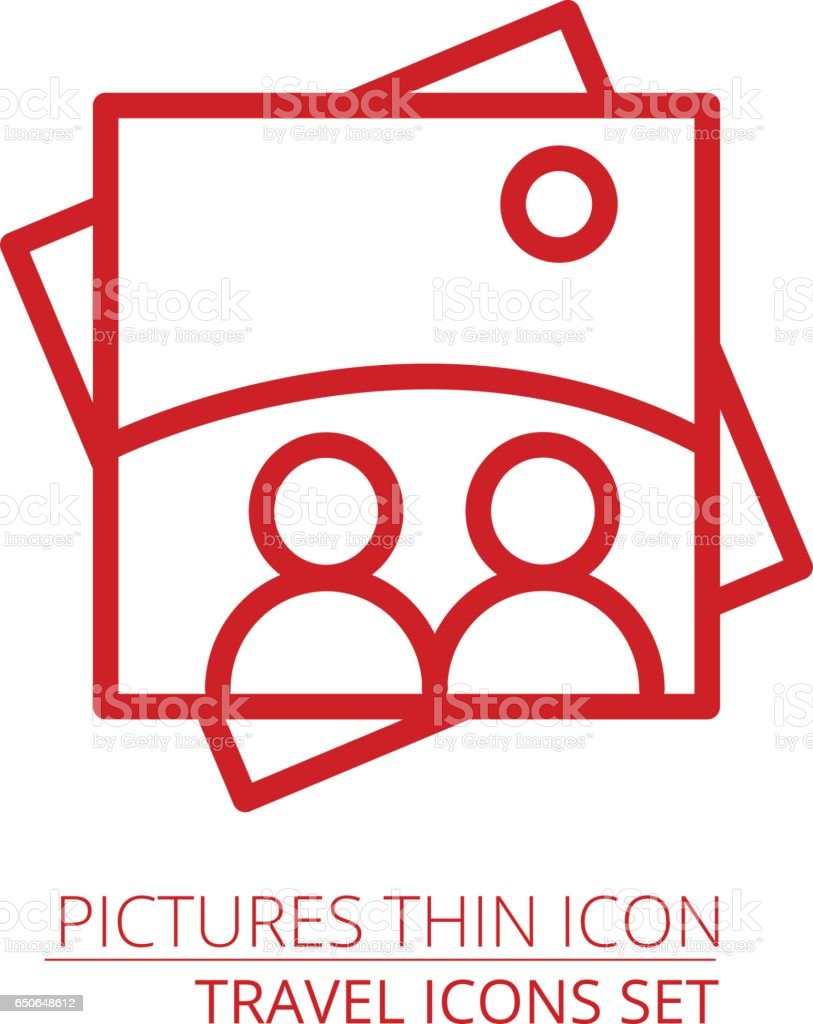 picture icon. One of set web icons vector art illustration