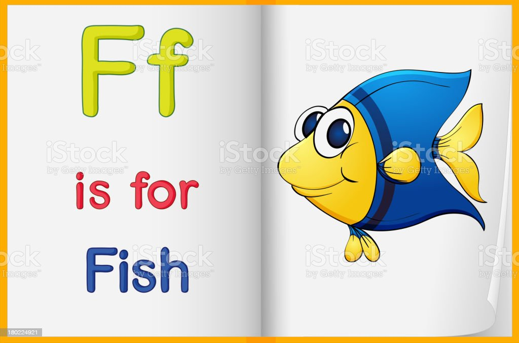 picture of a fish in book royalty-free stock vector art