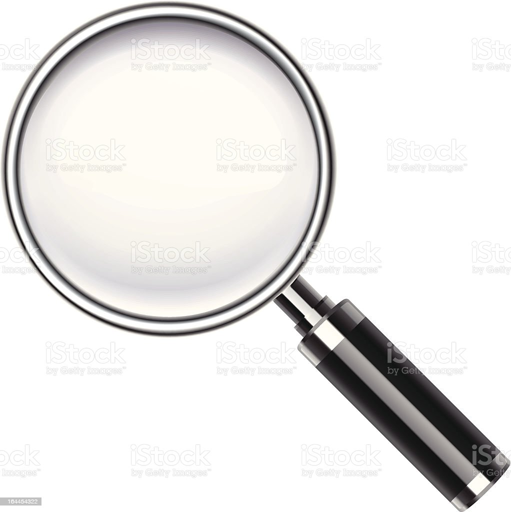 Picture of a magnifying glass  vector art illustration
