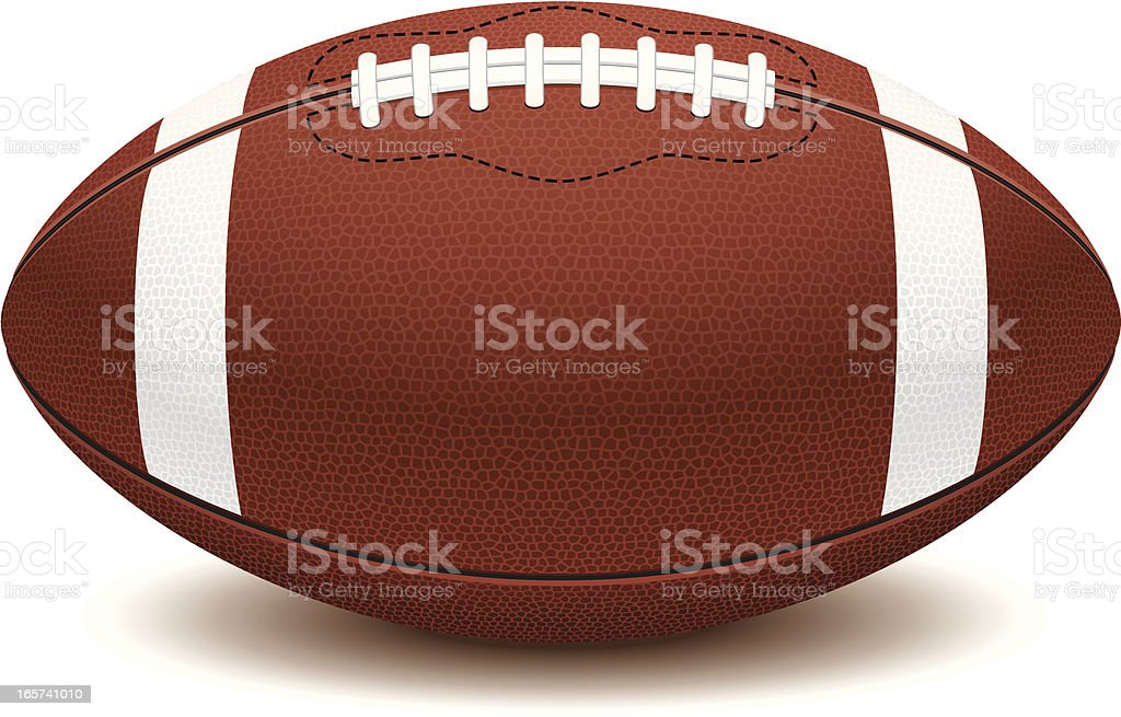 Picture of American football ball on white background  vector art illustration