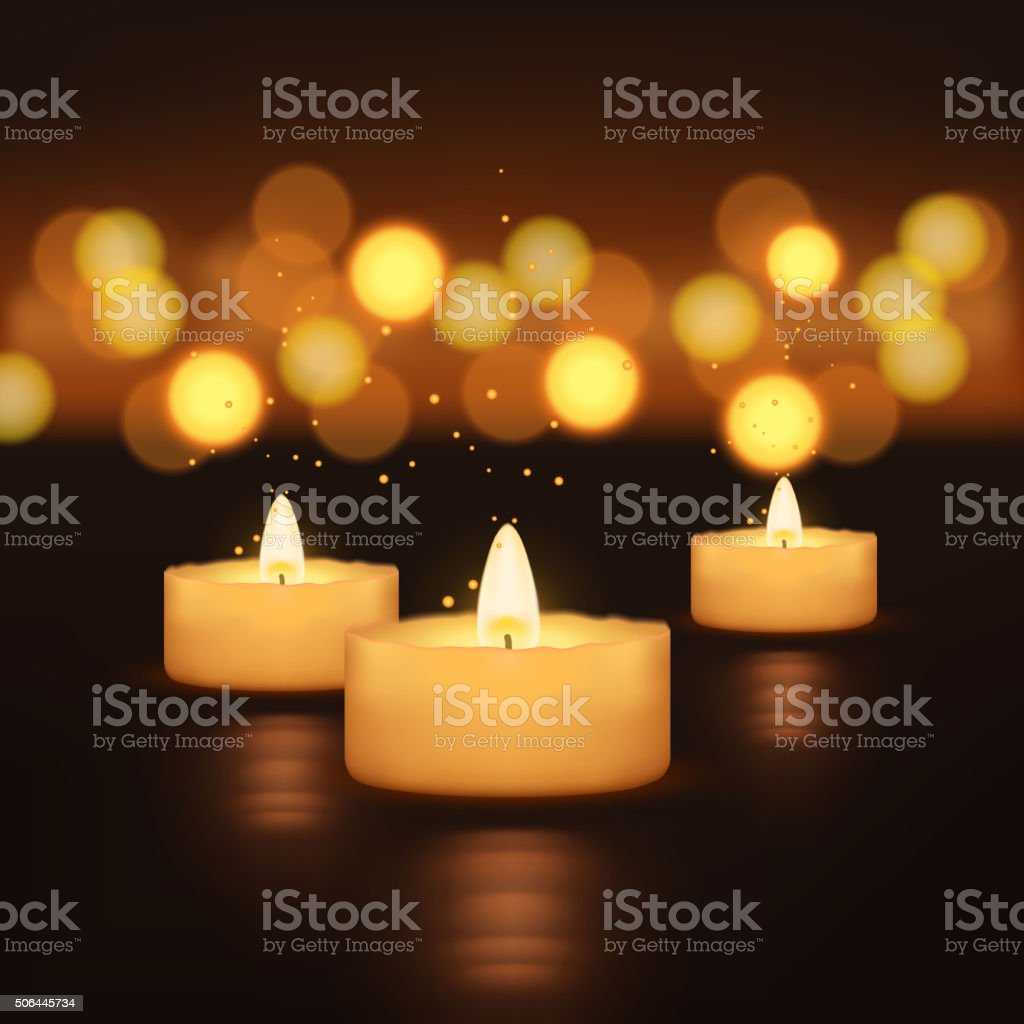 picture of candles vector art illustration