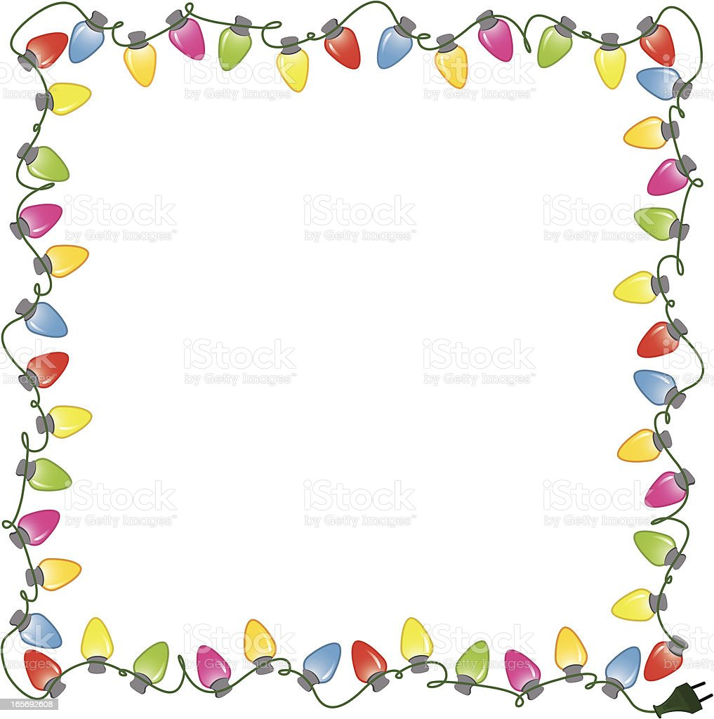 A picture of colorful lights around a frame royalty-free stock vector art