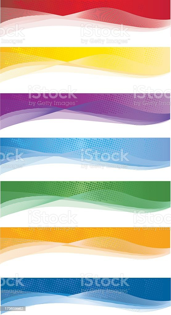 A picture of colorful web banners vector art illustration