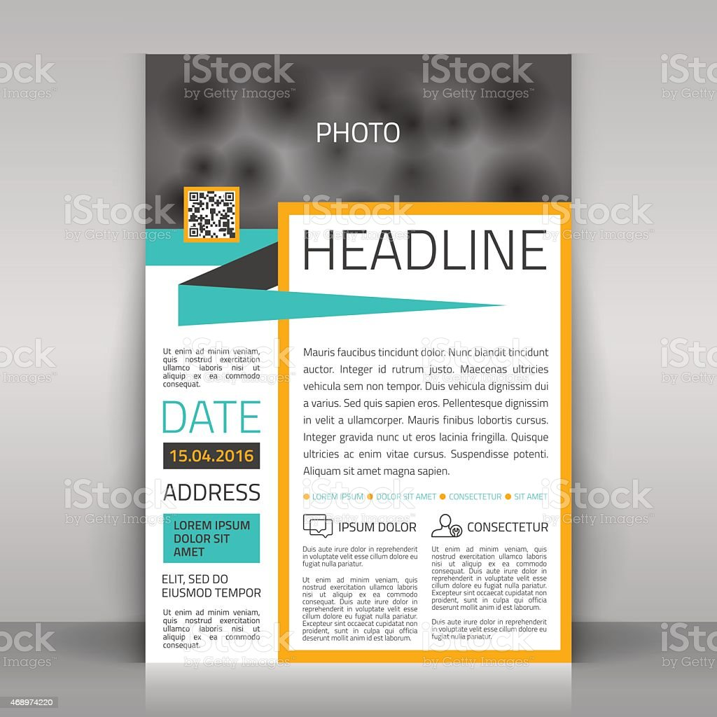 Picture of customizable business flyer vector art illustration