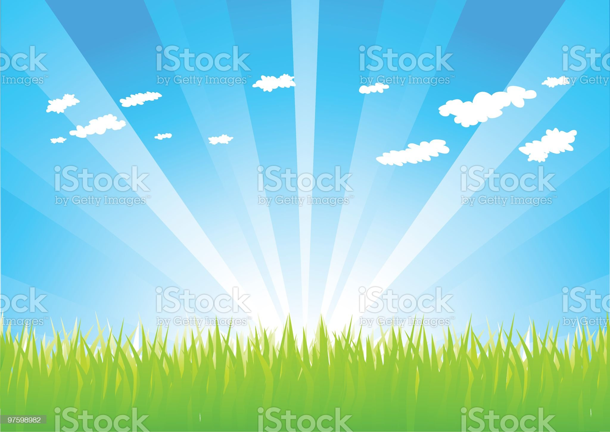 Picture of green grass royalty-free stock vector art