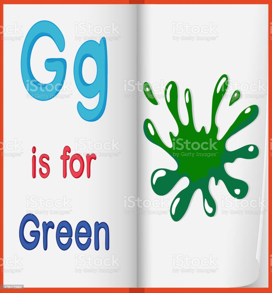picture of  green splash in a book royalty-free stock vector art