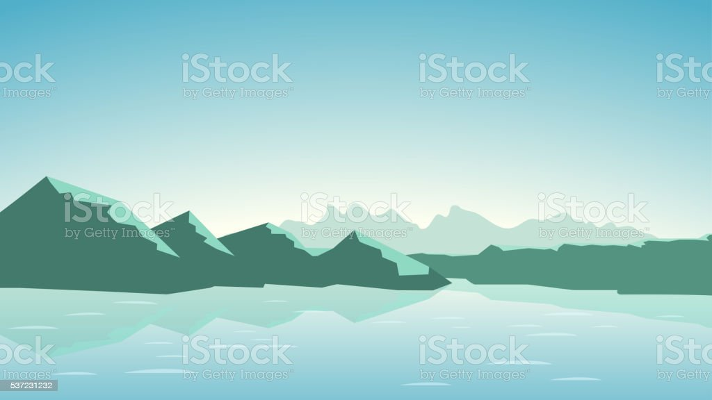 picture of mountains13 vector art illustration