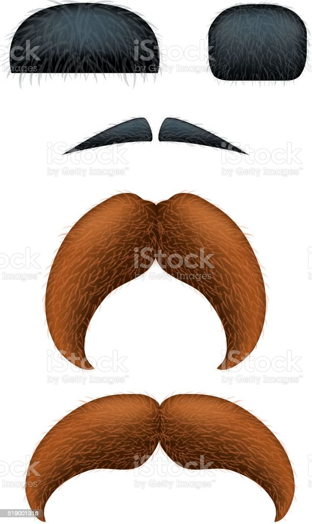 Picture of mustache vector art illustration