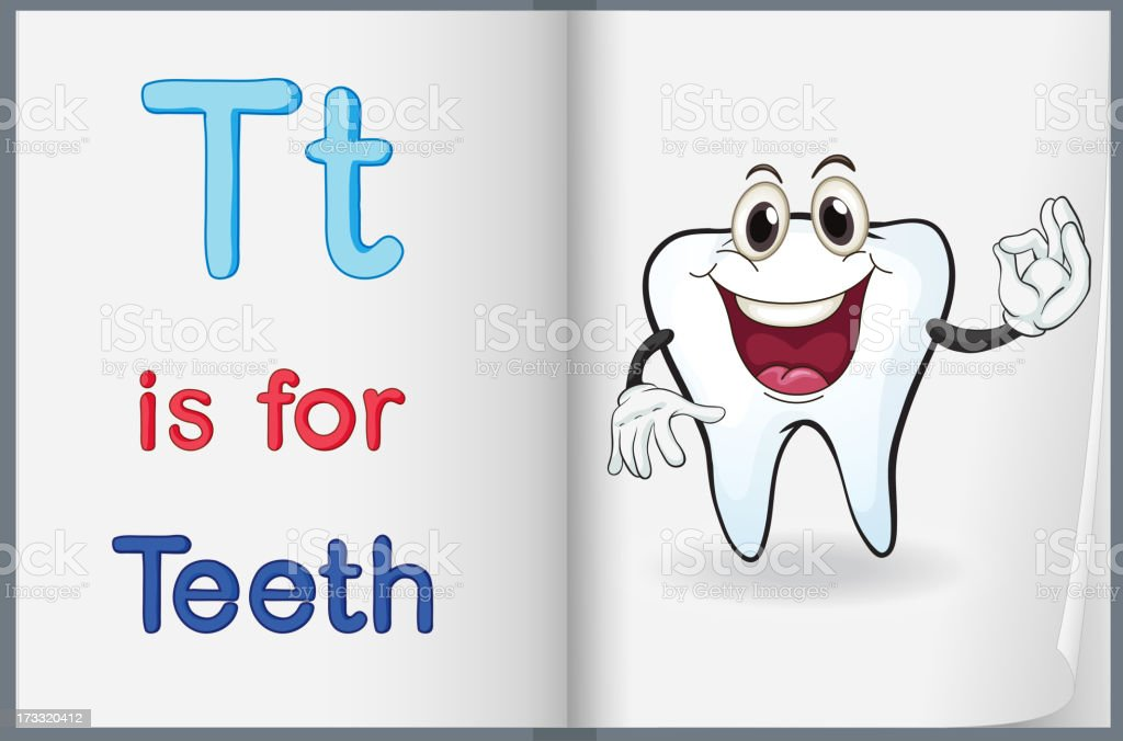 picture of  tooth in a book royalty-free stock vector art