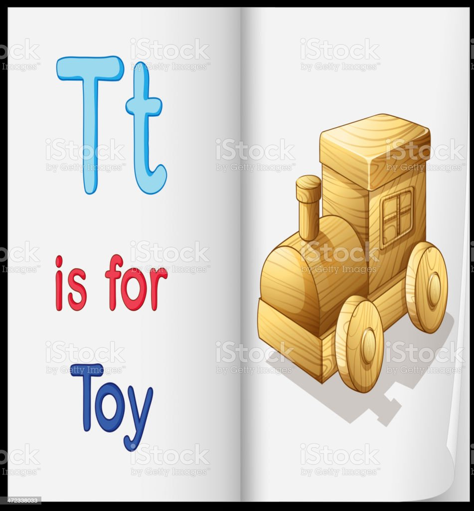 picture of toy in a book royalty-free stock vector art