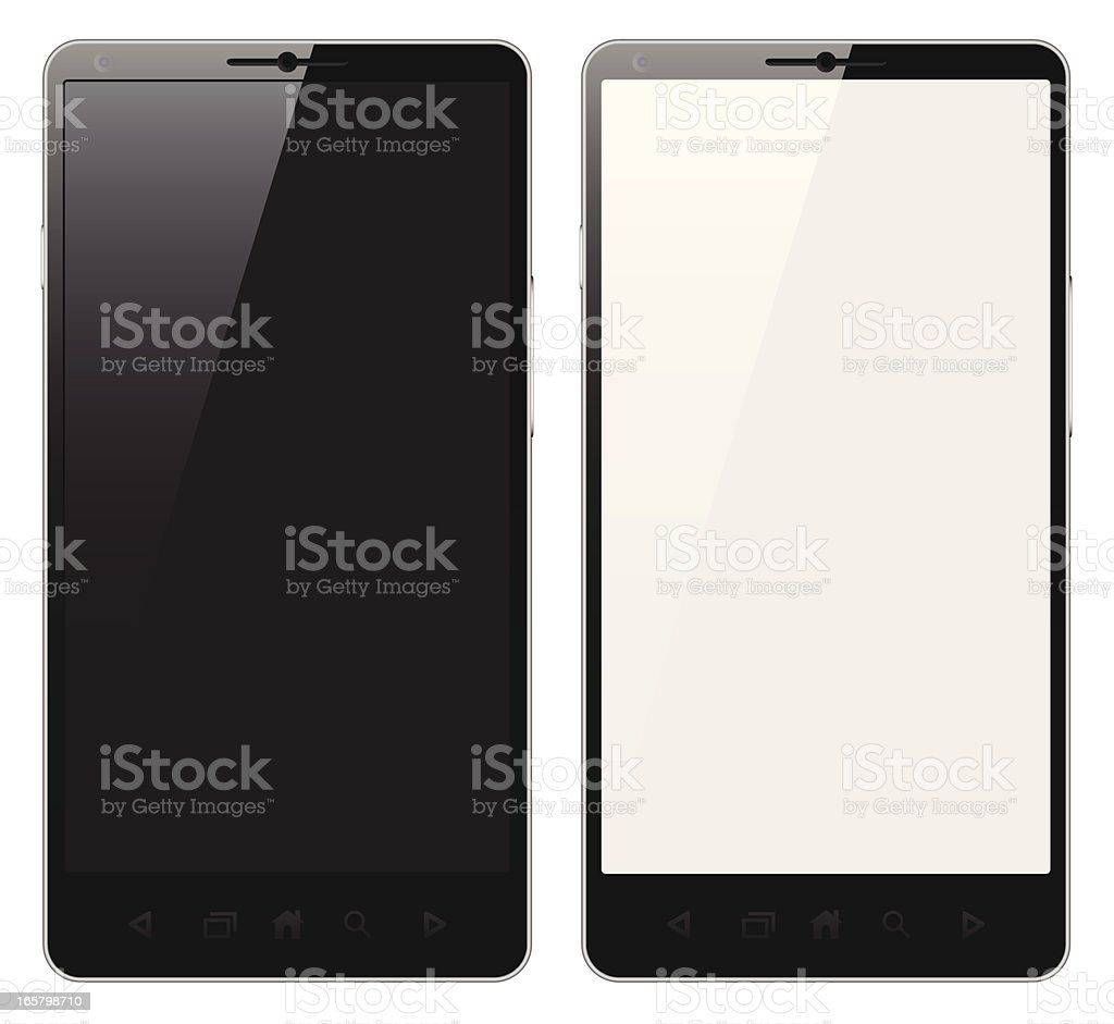 A picture of two mobile phones royalty-free stock vector art