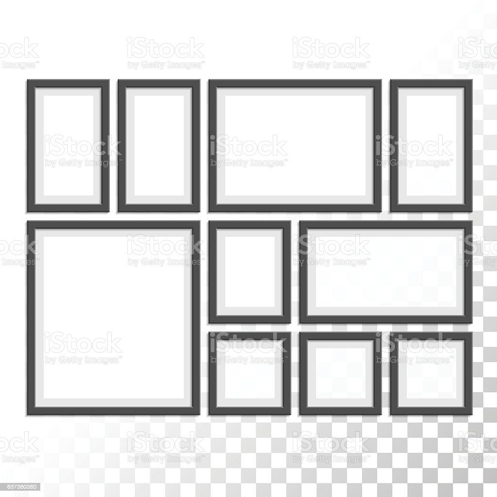 Picture photo frames set. vector art illustration