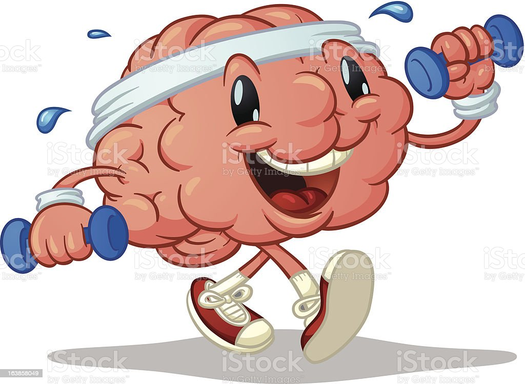 A picture symbolizing the concept of the human brain at work royalty-free stock vector art
