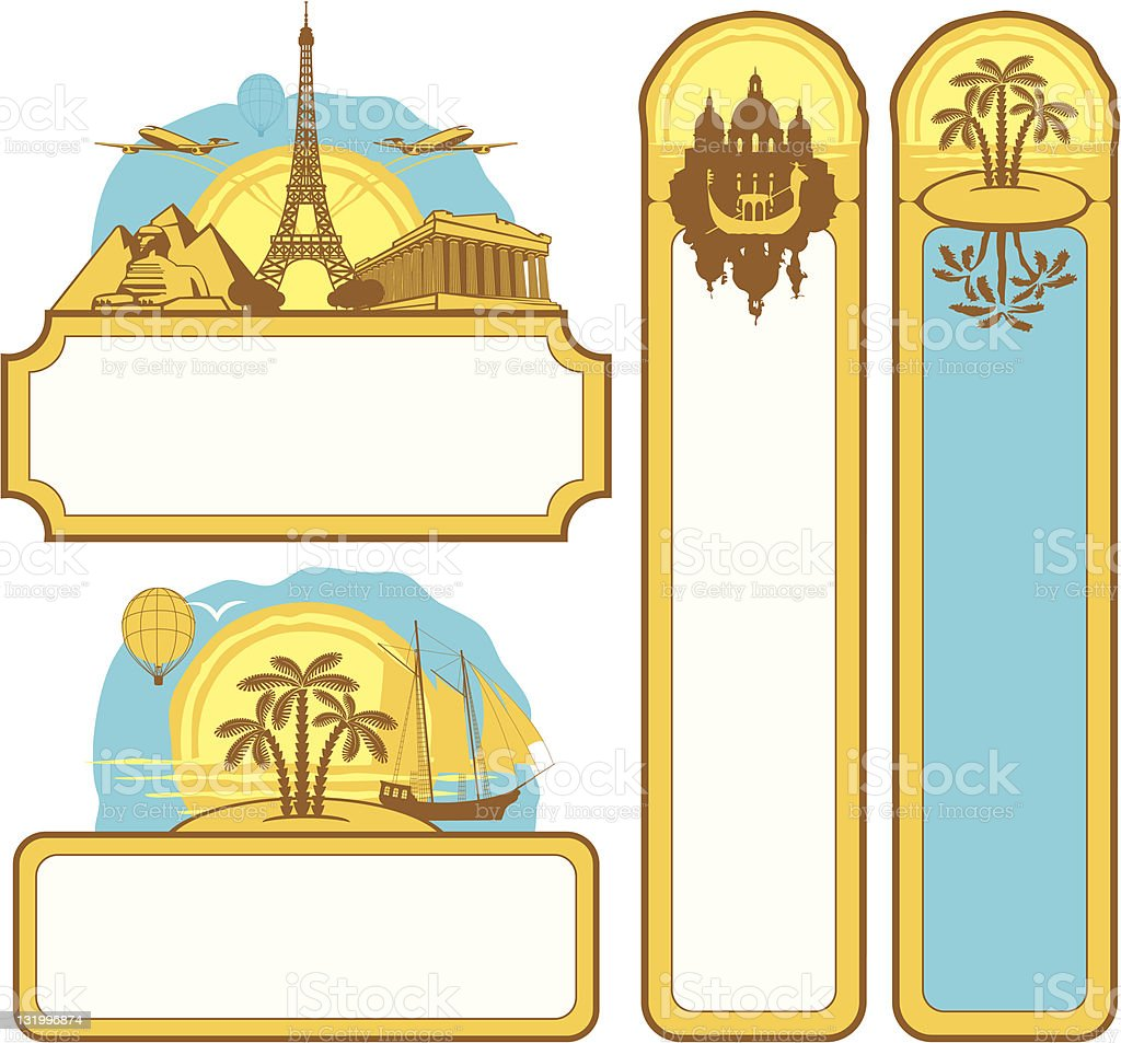 Pictures from the tourist attractions royalty-free stock vector art