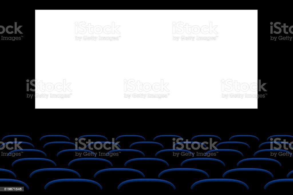 picure of cinema seats vector art illustration