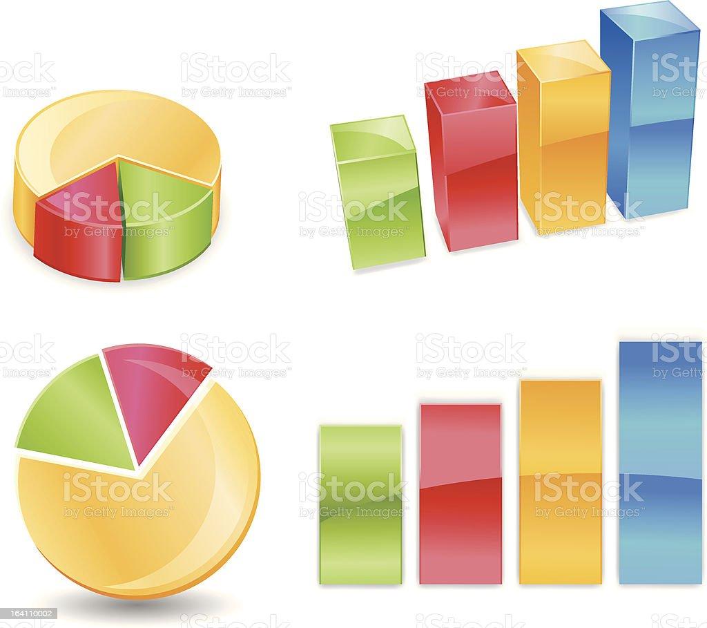 Pie Bar Chart royalty-free stock vector art