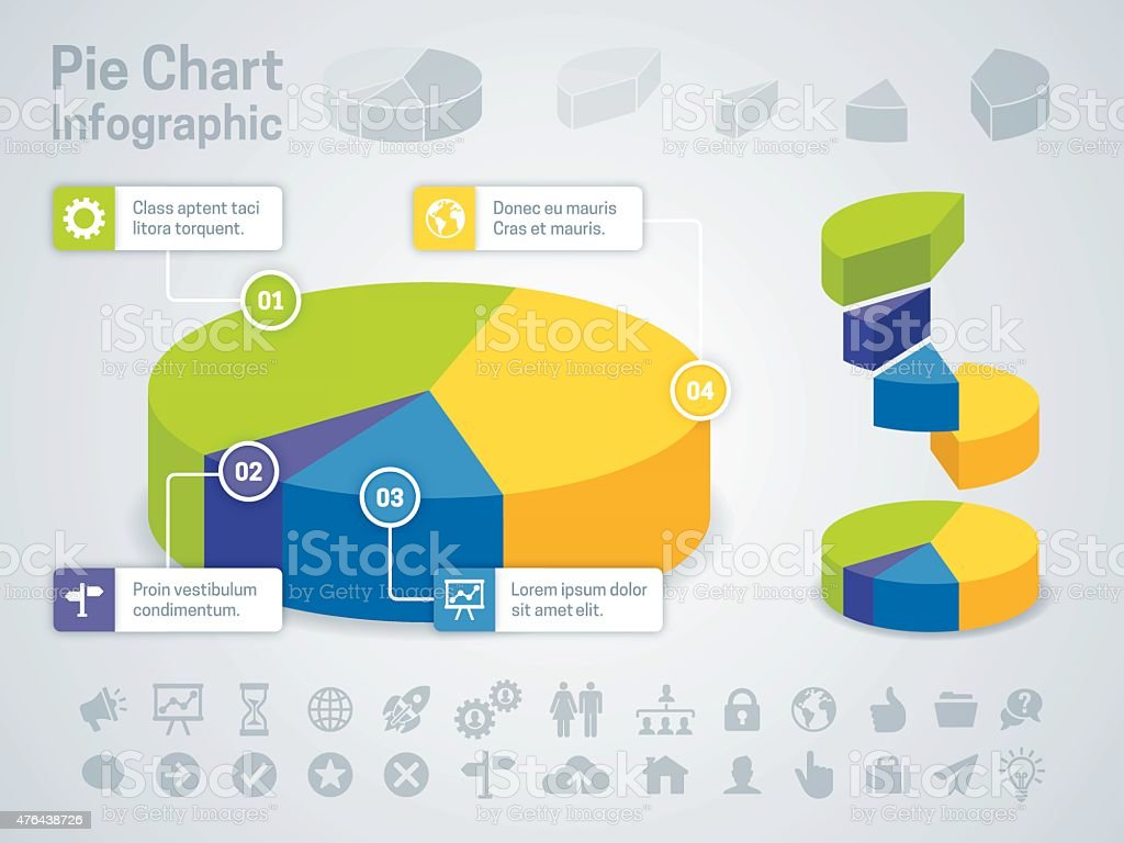 Pie Chart Business Infographic vector art illustration