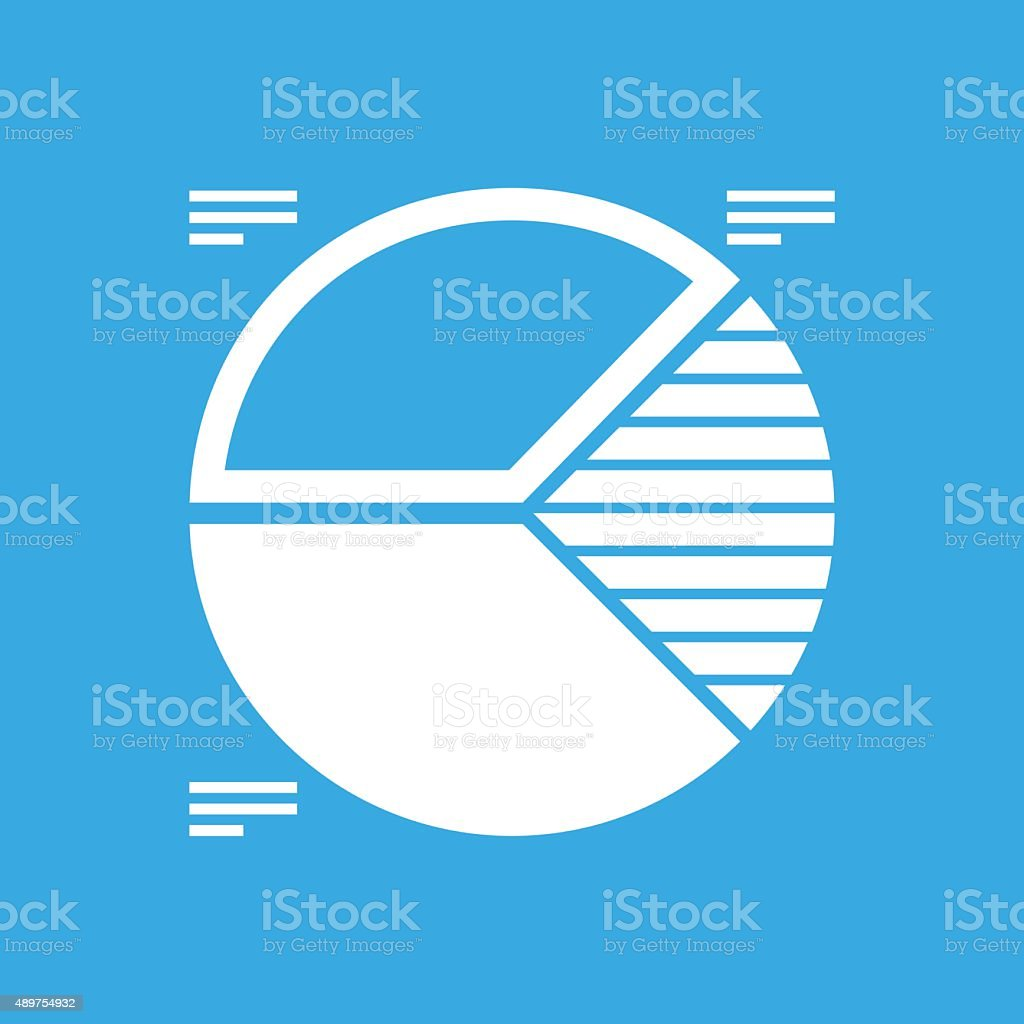 Pie Chart icon on a blue background. - Smooth Series vector art illustration