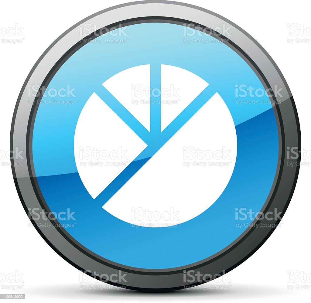 Pie Chart icon on a round button. - BrightSeries vector art illustration