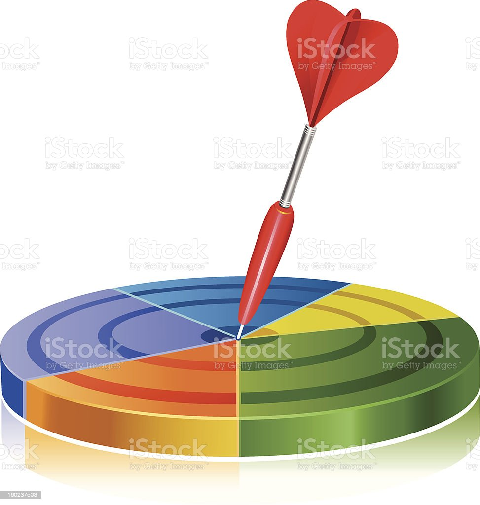 Pie Graph Target royalty-free stock photo