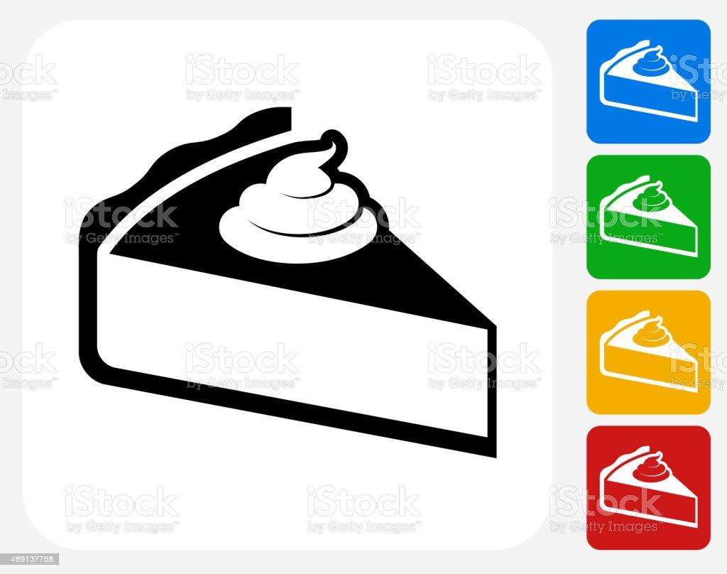 Pie Icon Flat Graphic Design vector art illustration