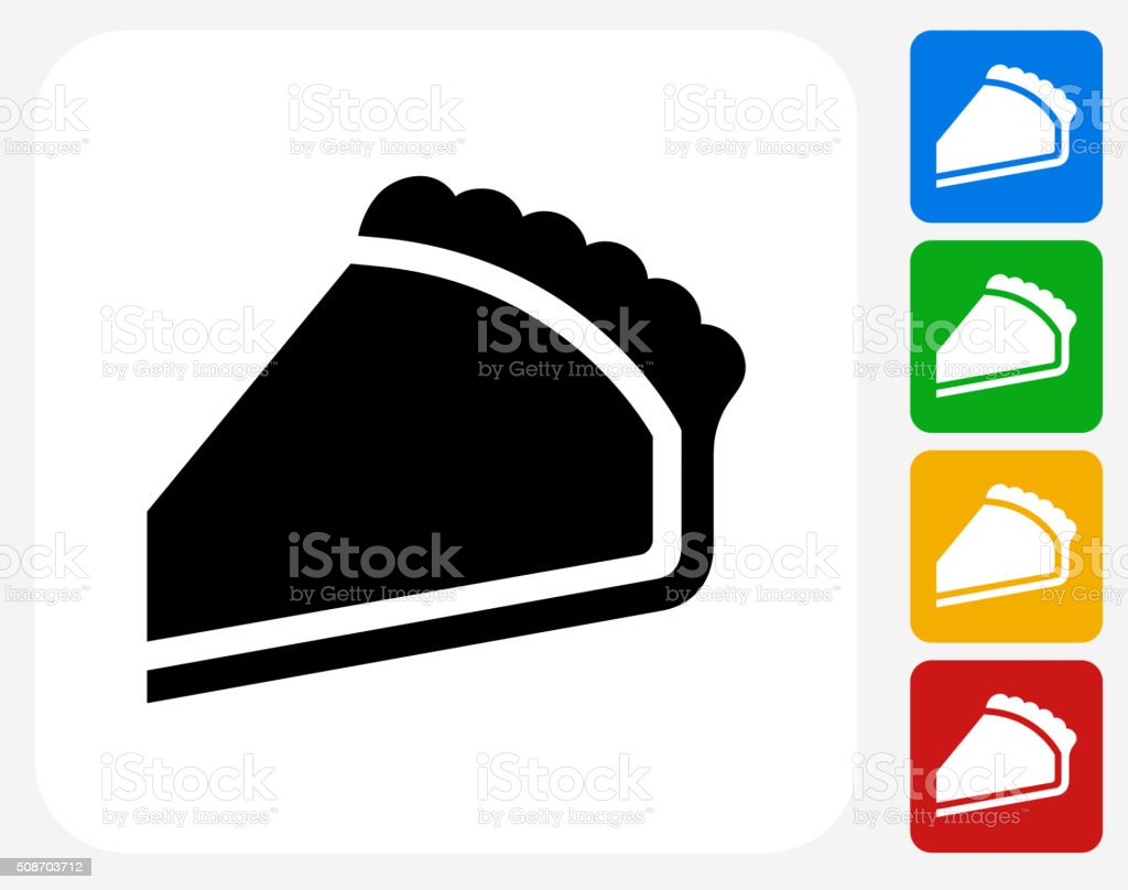 Pie Icon Flat Graphic Design vector art illustration