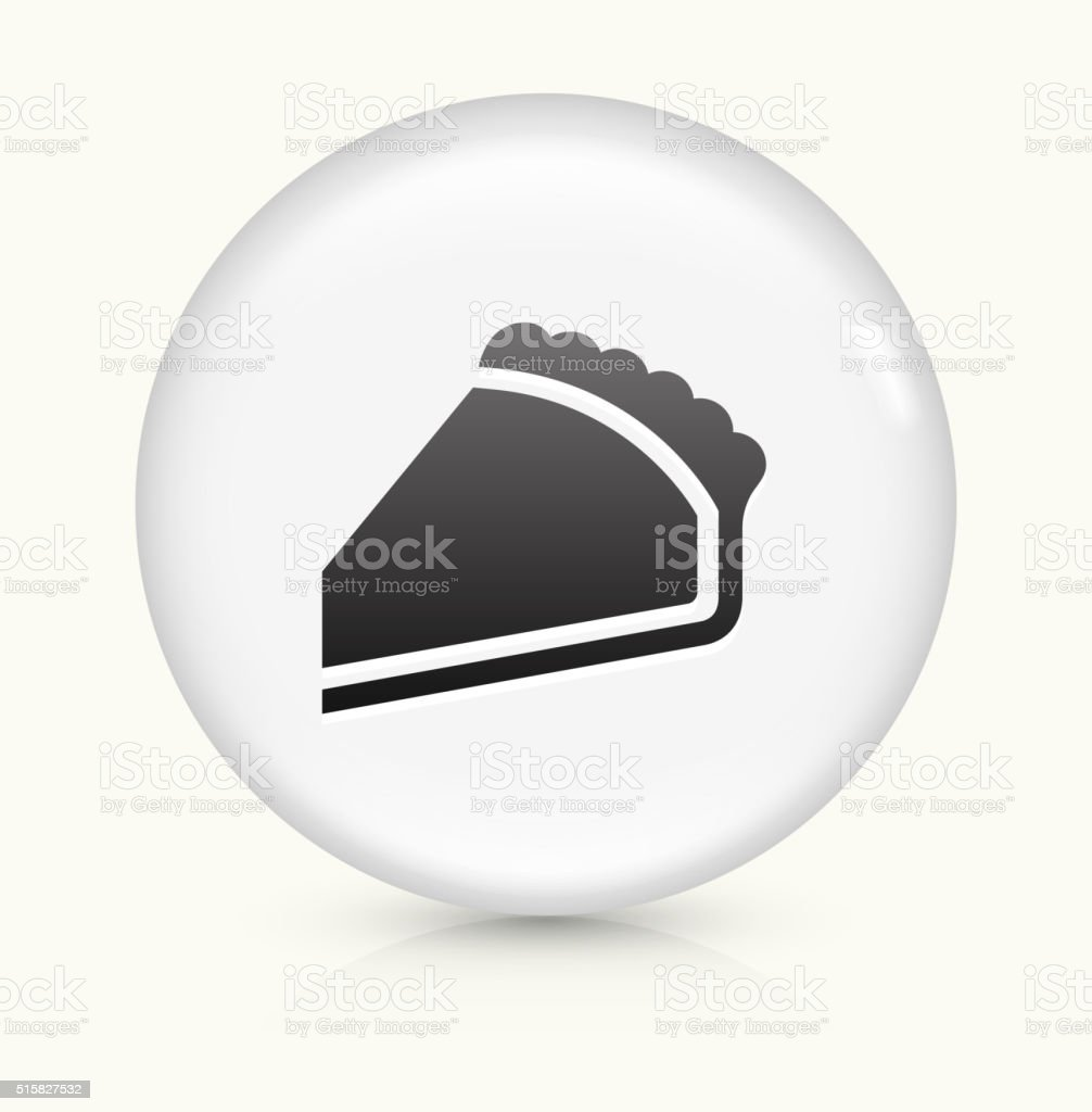Pie icon on white round vector button vector art illustration