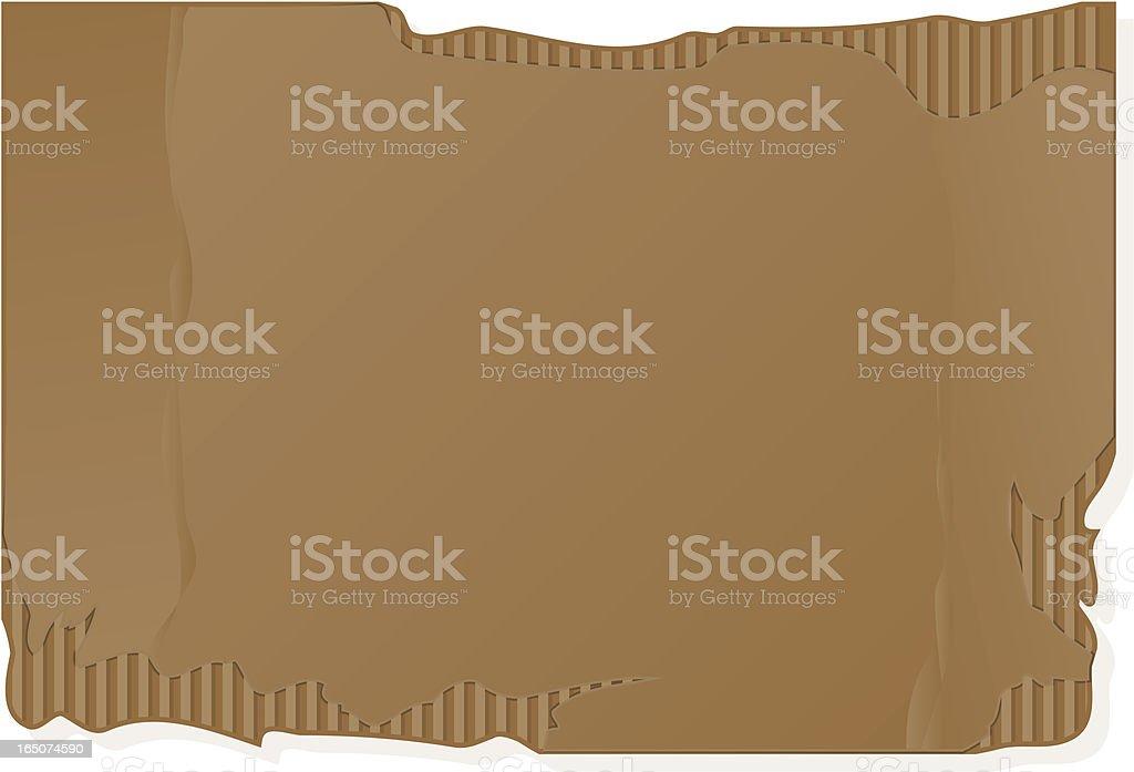 piece of cardboard royalty-free stock vector art