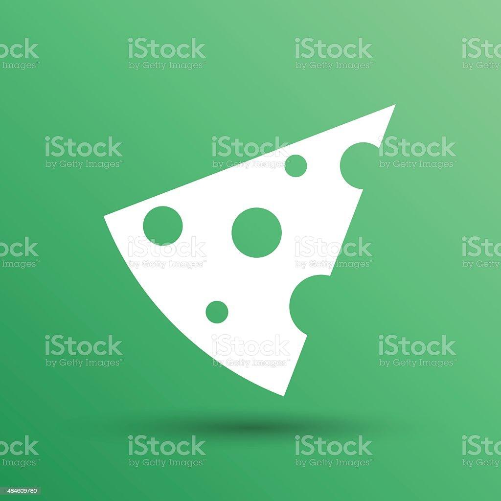 piece of cheese vector template icon logo vector art illustration