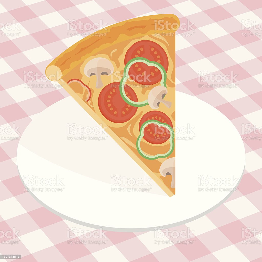 Piece of Italian pizza royalty-free stock vector art