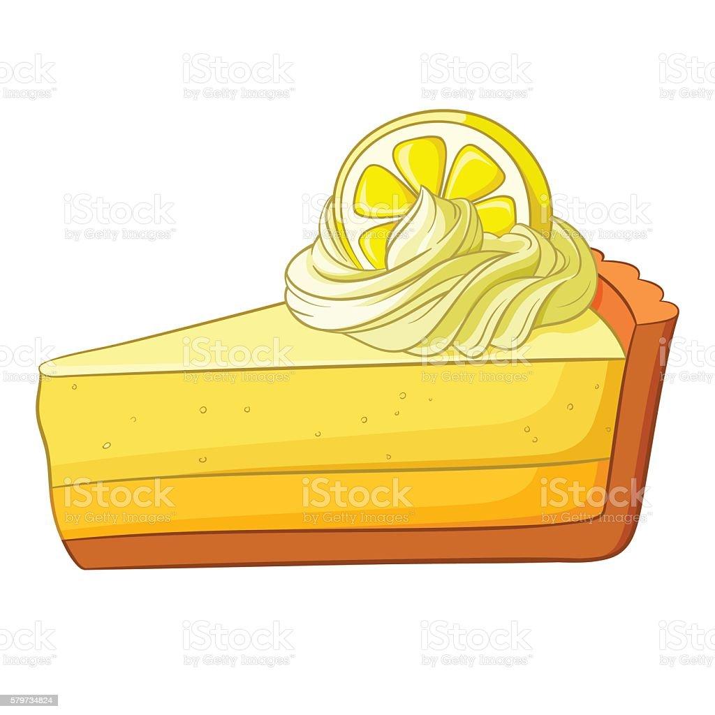 Piece of lemon cake. Vector illustration. vector art illustration
