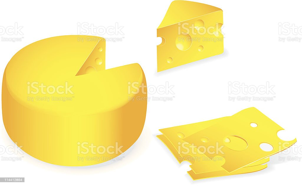 Pieces of cheese royalty-free stock vector art