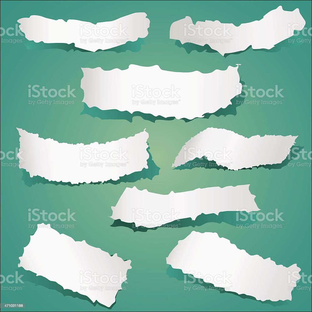 Pieces of Torn Papers Collection vector art illustration
