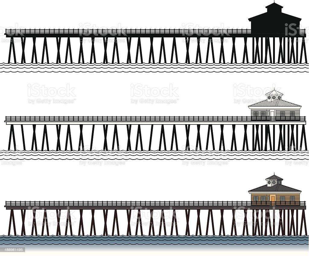 Pier vector art illustration