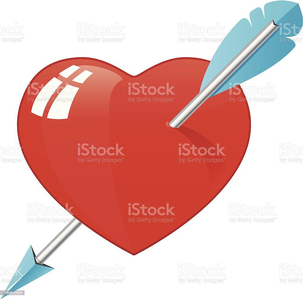 Pierced Heart vector art illustration
