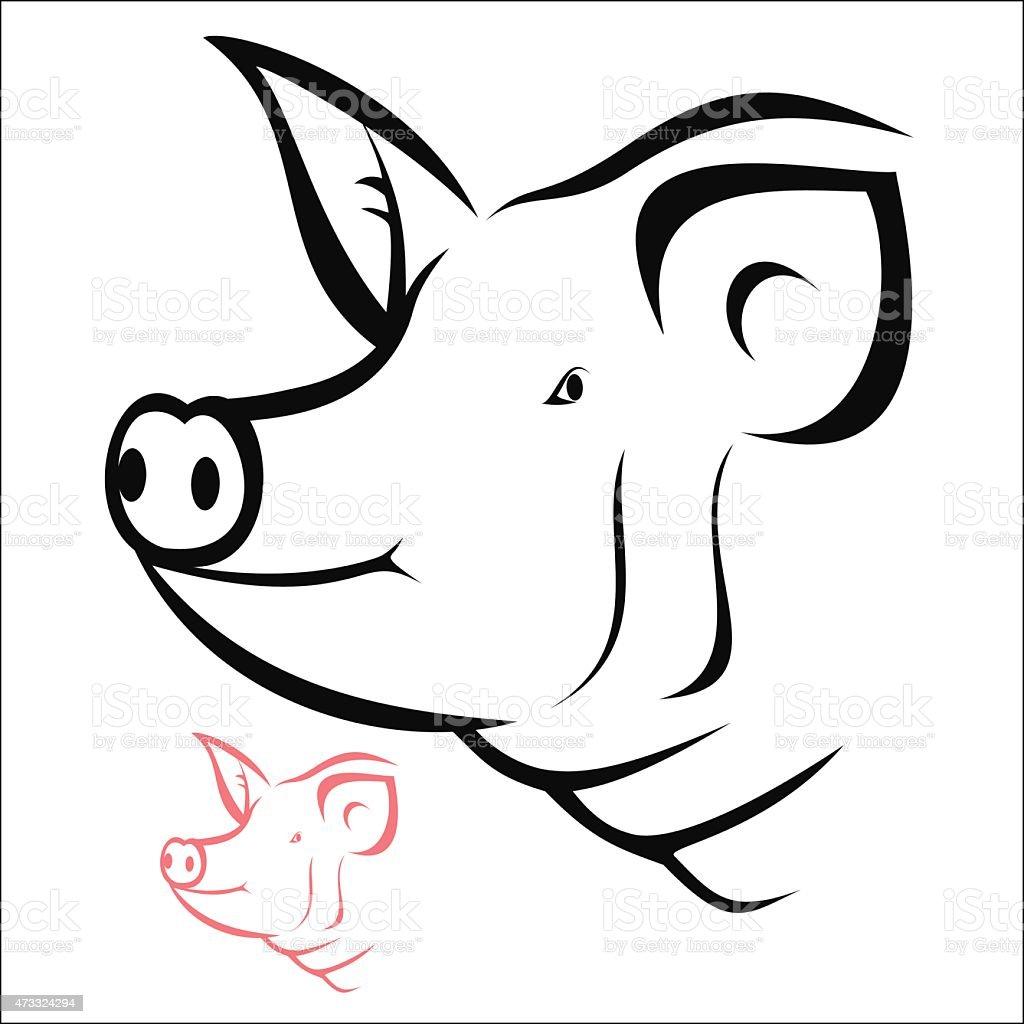 Pig head royalty-free stock vector art