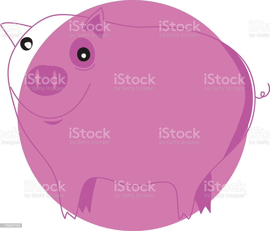pig in pink royalty-free stock vector art