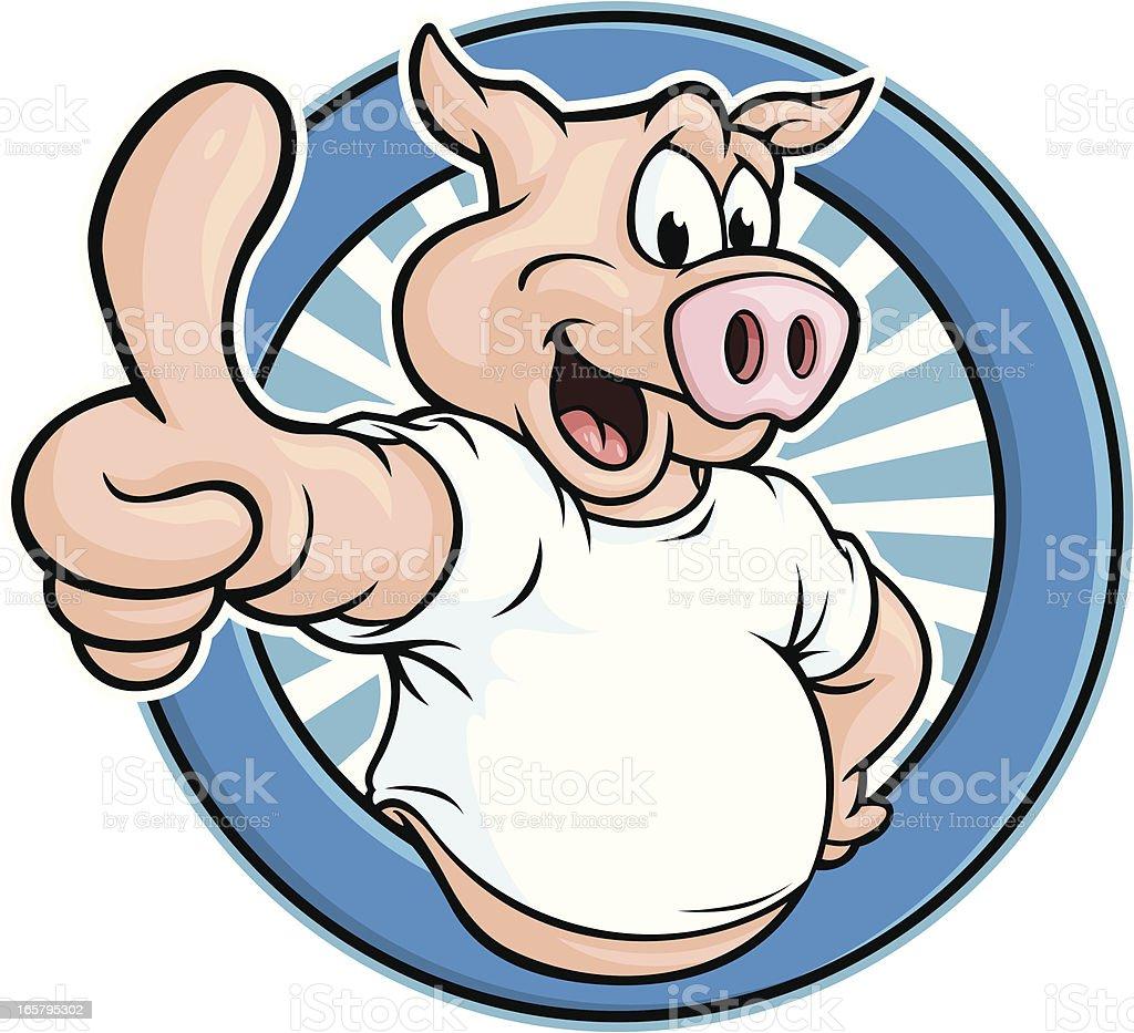 Pig Mascot vector art illustration