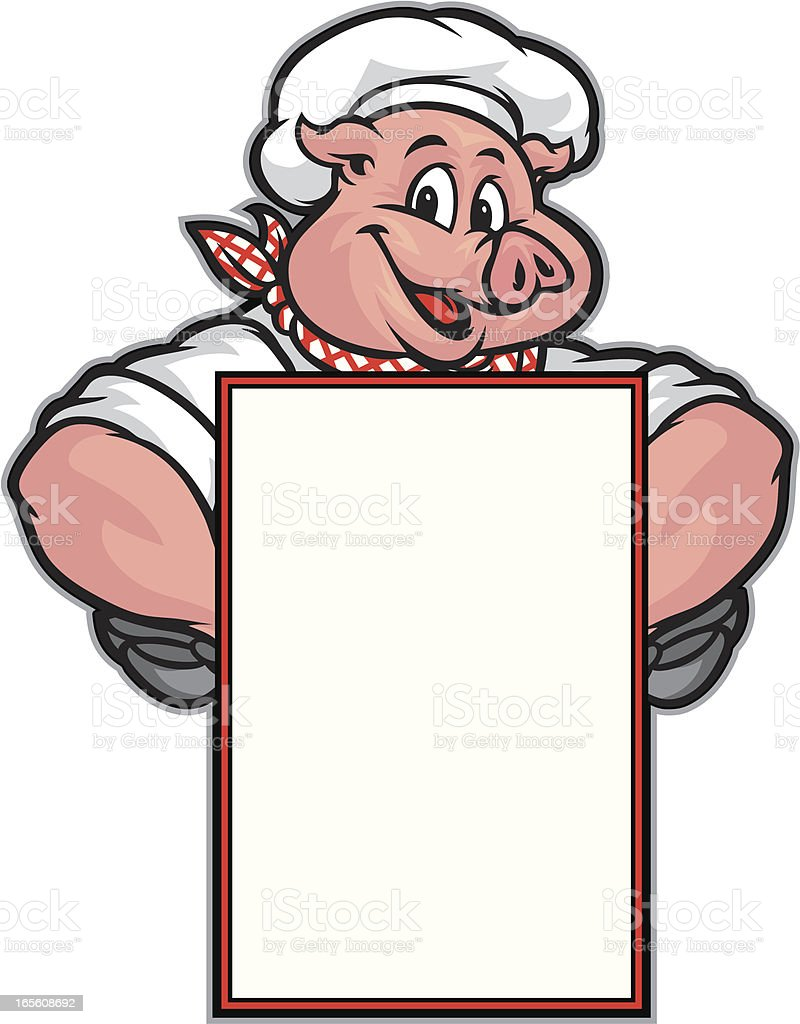Pig Menu royalty-free stock vector art