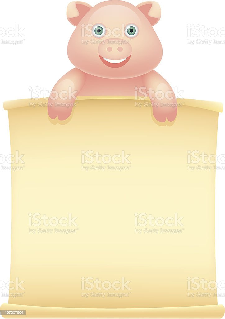 Pig Message royalty-free stock vector art