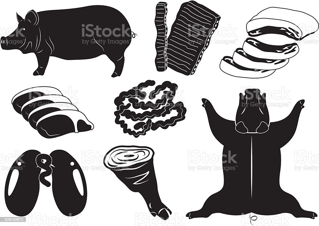 pig vector art illustration