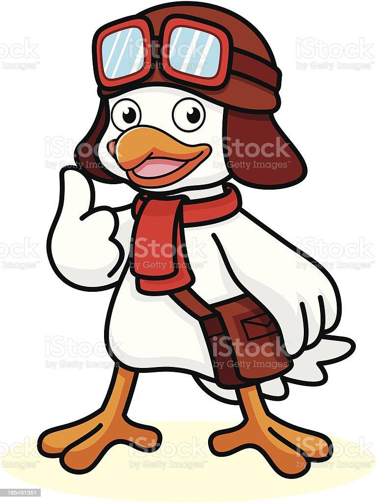 Pigeon Cartoon royalty-free stock vector art
