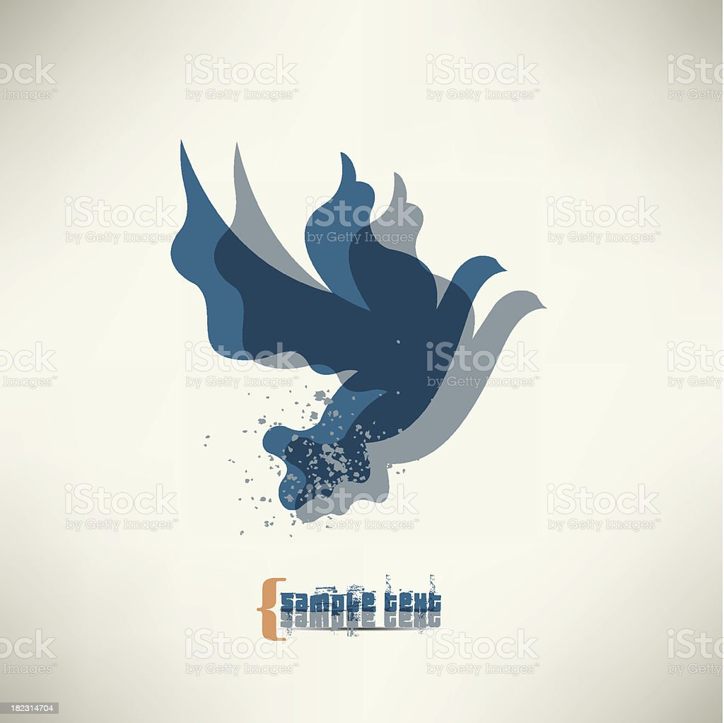 Pigeon royalty-free stock vector art