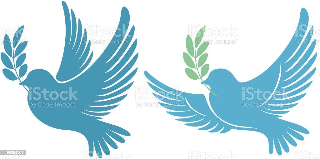 Pigeon vector art illustration