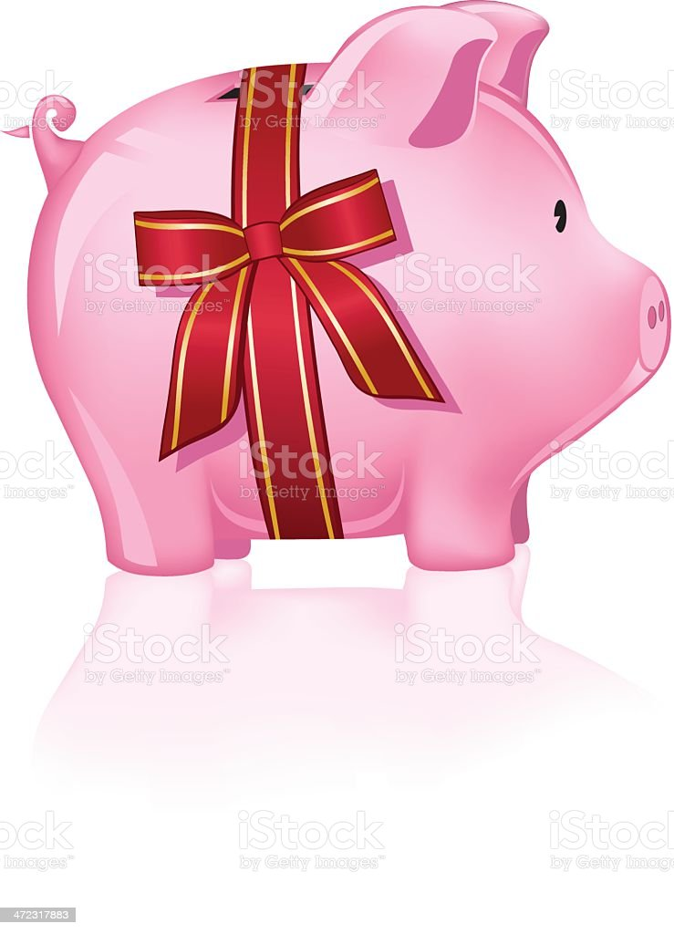 Piggy Bank Gift royalty-free stock vector art