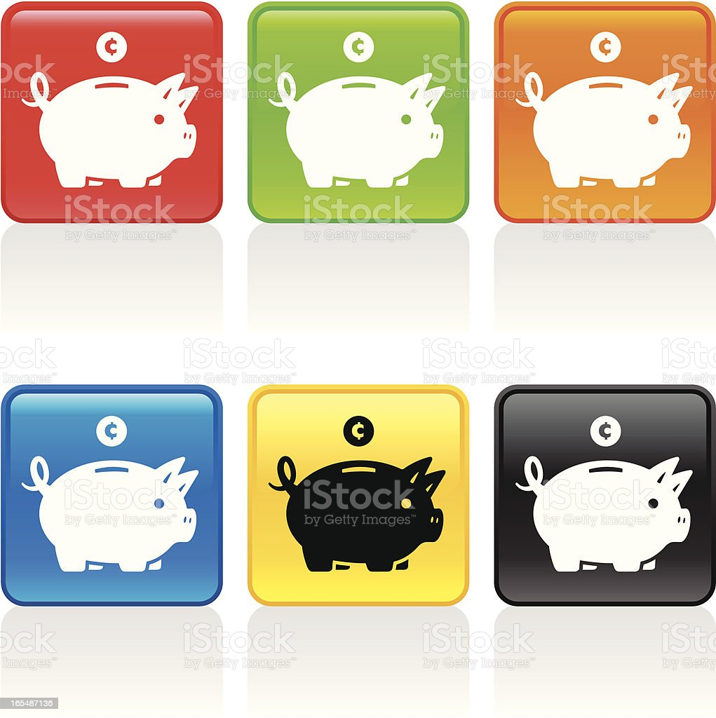 Piggy Bank Icon royalty-free stock vector art